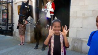 girl reviews royal horseguards parade