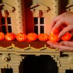 lego pumpkins on lego buckingham palace in legoland miniland