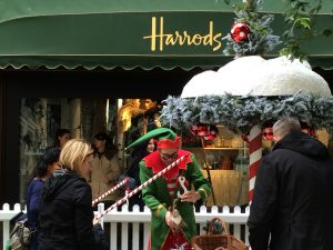 Harrods London Christmas Elf Snow KidRated reviews 15 things to do in London at Christmas