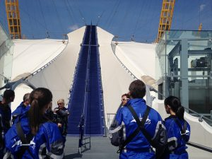 up at the O2 as featured in 50 things for teenagers to do in London