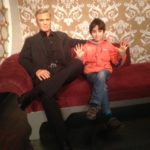 Danny's chilling with Clooney and gives Mme Tussaud a 10