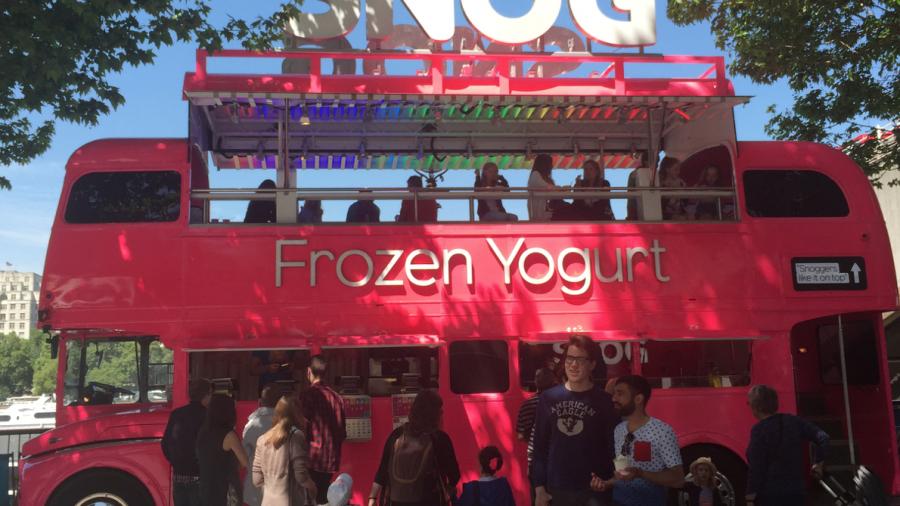 SNOG frozen yoghurt south bank southbank