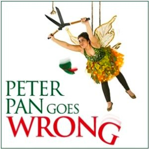 peter pan goes wrong theatre poster