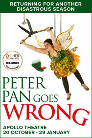 peter pan goes wrong theatre poster Kidrated London Top 5 Pantomimes