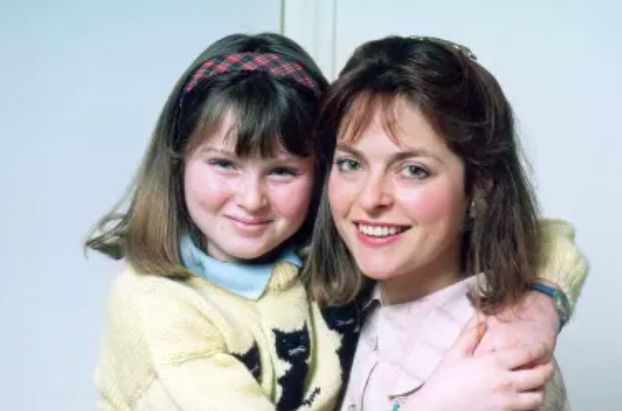 Sophie with her Mum - former Blue Peter presenter Janet Ellis