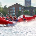 Red Thame rocket tour boat on the river