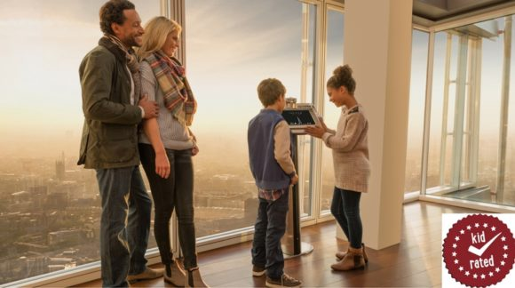 a family at the view from the shard london