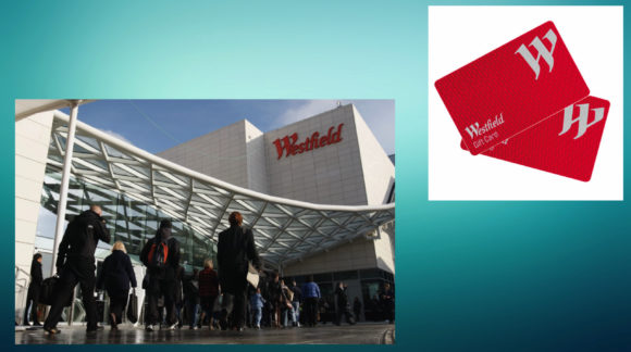 Westfield Vouchers for competition giveaway