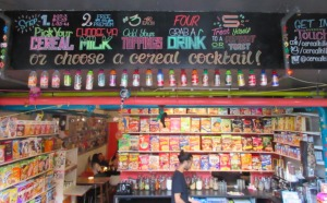 Cereal Killer Cafe in Brick Lane as featured in 50 things for teenagers to do in London