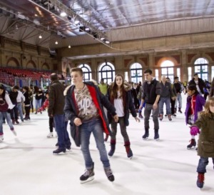 The ice rink at Alexander Palace as featured in 50 things for teenagers to do in London