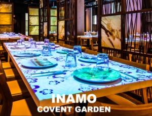 the beautiful interior of Inamo, Covent Garden
