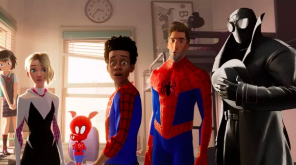 the oscar winning Into the Spiderverse