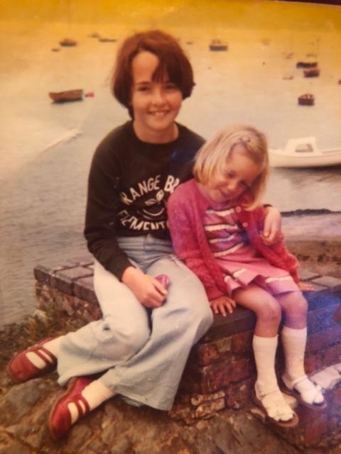 Wendy Wason as a kid