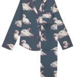 Swan designed pyjamas by their nibs