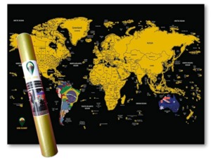 Global Walkabout Scratch Off Map with Flags