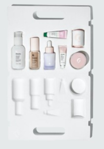 A full Glossier skincare routine, in miniature sizes.
