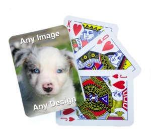 Personalised Playing Cards, printed with your image on the back, perfect stocking filler idea