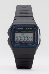 A great stocking filler - the classic Casio F-91W-1XY digital watch