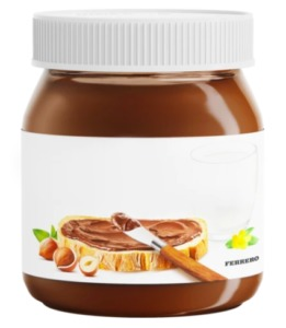 A Nutella jar waiting to have your name put on it