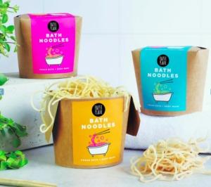 100% natural, vegan bath noodles