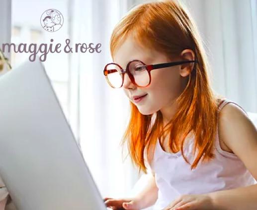A smiley girl enjoying a creative video class