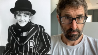 Photo of a young Louis Theroux alongside a present photo