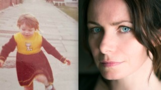 Baby photo of Clare Calbraith beside a present day picture