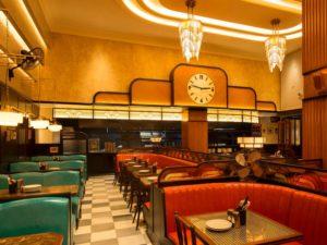 Dishoom, a popular Indian restaurant in Kensington, London