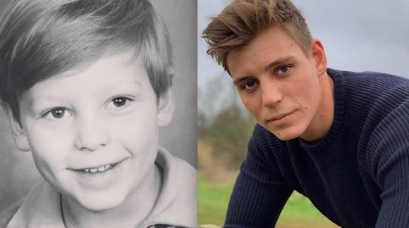 Past vs present photograph of Tristan Phipps
